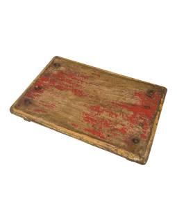 Čajový stolík z teakového dreva, 54x38x8cm