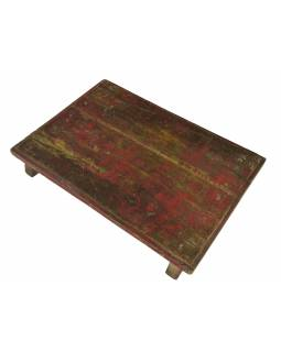 Čajový stolík z teakového dreva, 50x35x8cm