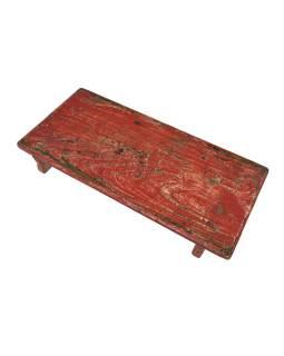 Čajový stolík z teakového dreva, 58x27x8cm