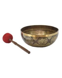 """Tibetská misa, """"GULP"""", gravírovaná s dizajnom, priemer 30cm"""