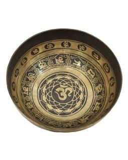 """Tibetská misa, """"GULP"""", gravírovaná s dizajnom, priemer 31cm"""