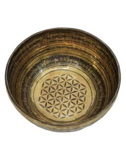 """Tibetská misa, """"GULP"""", gravírovaná s dizajnom, priemer 32cm"""