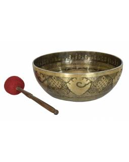 """Tibetská misa, """"GULP"""", gravírovaná s dizajnom, priemer 39cm"""