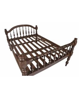 Starožitná posteľ z teakového dreva, 218x158x126cm