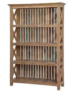 Regál z teakového dřeva, 120x40x180cm