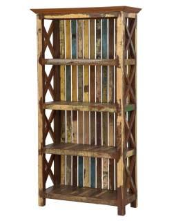 Regál z teakového dřeva, 90x40x180cm