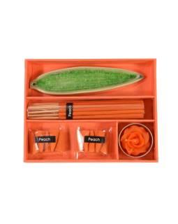 Darčekový set oranžový Peach, 16x13x3cm