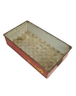 Starý kovový podnos na čaj, 63x37x16cm