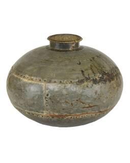 Stará kovová nádoba, průměr 40cm, výška 28cm