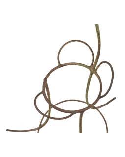 Kovový stojan na květiny - páv, 60x60x106cm