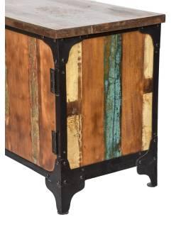 "Komoda pod TV v ""GOA"" stylu z teakového dřeva, 165x43x65cm"