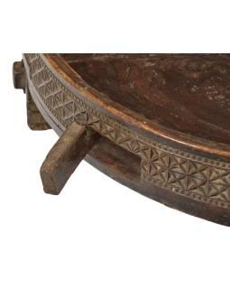 Kulatý stolek z mangového dřeva, 70x70x21cm