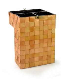 Ratanová škatuľa na 2 fľaše vína, svetlá, 20x10x36cm