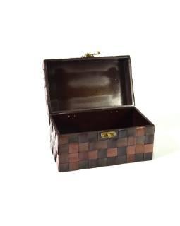 Ratanová truhlička, tmavá, 25x15x15cm
