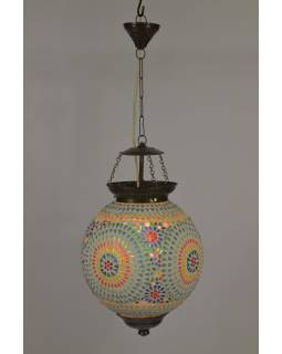 Lampa v orientálním stylu, skleněná mozaika, ruční práce, 25x25x33cm