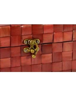 Ratanová truhlička, červená, 25x15x15cm