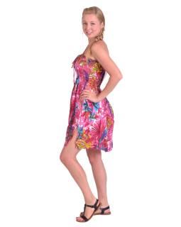 Dlouhá sukně/ šaty krátké, žabička v pase, růžové