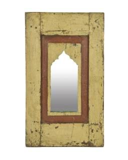 Zrcadlo v rámu z teakového dřeva, 38x3x65cm