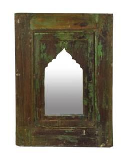 Zrcadlo v rámu z teakového dřeva, 35x3x47cm