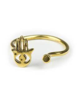 Prsten, ruka Fatimy, otevřený, postříbřený (10µm)