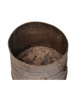 Starožitná kovová nádoba, 23x23x20cm