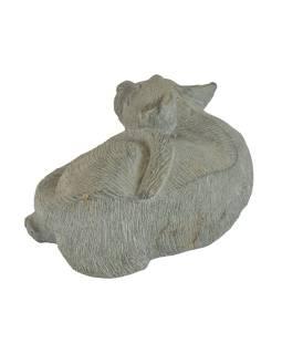 Soška kočky, žula, 12x17x8cm