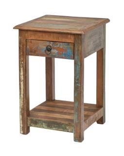 Noční stolek v Goa stylu, šuplík, 40x40x60cm