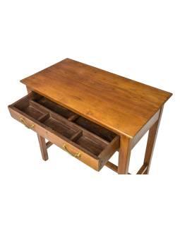 Psací stolek z antik teakového dřeva, 81x44x76cm