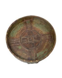 Kulatý stolek z teakového dřeva, 69x69x23cm