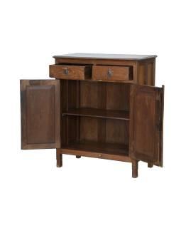 Starožitná skříň z teakového dřeva, 80x42x98cm