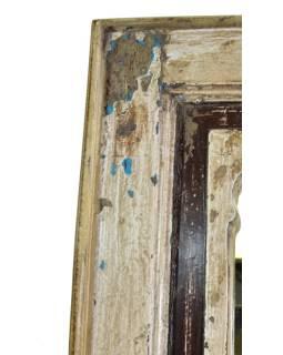 Zrkadlo v ráme z recyklovaného teakového dreva, 30x3x60cm