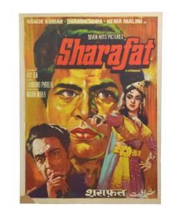 Antik filmový plagát Bollywood, cca 100x75cm