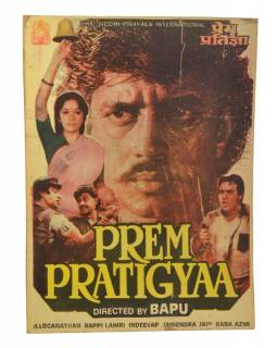 Plagát antik filmový Bollywood, cca 98x75cm
