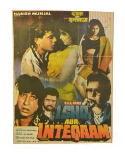 Antik filmový plagát Bollywood, cca 92x70cm