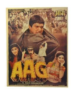 Antik indický filmový plagát Bollywood, 92x70cm