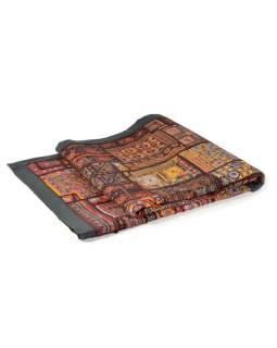 Tapisérie z Rajastan, patchwork, zrkadlá, jemná ručná práca, 100x150cm
