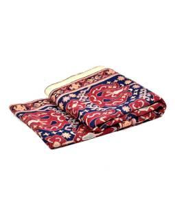 Ručne vyšívaný koberec / tapisérie, výšivka z kašmírskej vlny, 296x76cm