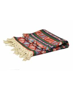 Ručne vyšívaný koberec / tapisérie, výšivka z hodvábu, 150x90cm