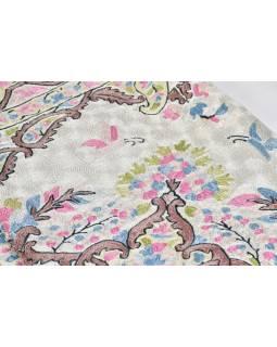 Ručne vyšívaný koberec / tapisérie, výšivka z hodvábu, 180x120cm