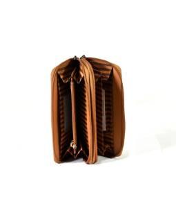 """Veľká kožená peňaženka """"All owls, vínová, 20x11cm"""