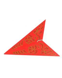 """Červený papierový lampión hviezda """"Star Star"""", pozlátená, 5 cípov, 60cm"""
