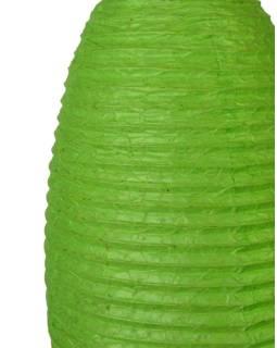 Zelený papierový lampión osie hniezdo, ručný papier, 29x50cm