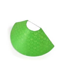 Tienidlo na stenu z ručného papiera, zelená, 37x11cm