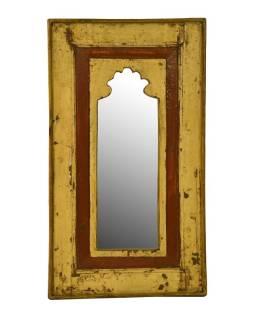 Zrkadlo v ráme z recyklovaného teakového dreva, 39x69x4cm
