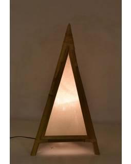 Stojaca lampa / tienidlo z bambusu a látky, 40x40x80cm