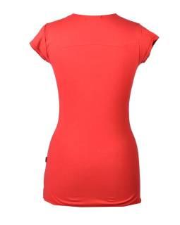 """Červené tričko s krátkym rukávom a čiernym potlačou """"Tree"""" dizajn"""