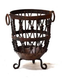 Železný kôš, 45x45x62cm