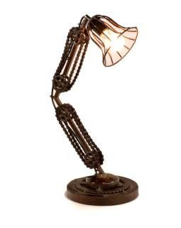 """Lampička v dizajne """"Steamp punk"""" z recyklovaných súčiastok, 35x24x60cm"""