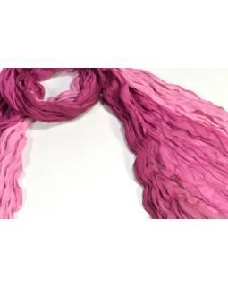 Šatka, vínovo-ružový Ombré efekt, mačkaná úprava, 110x170cm